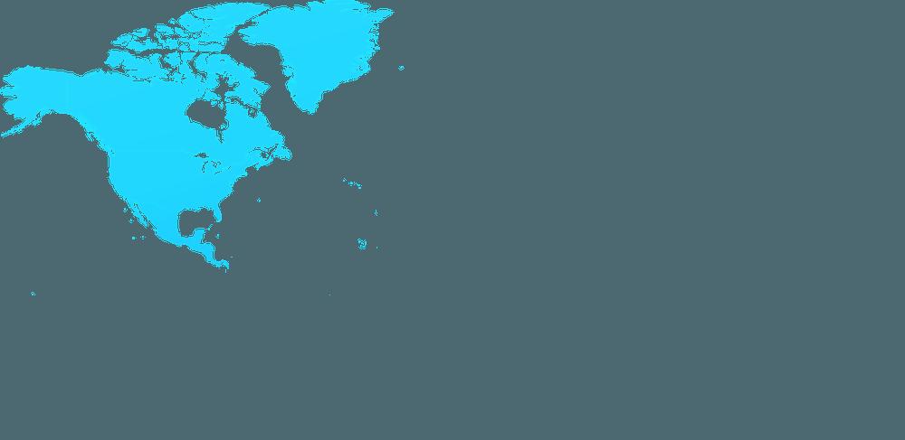 mapa Ameryki Polnocnej
