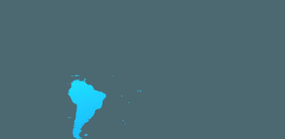 mapa Ameryki Poludniowej