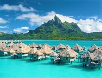 rajska wyspa widok z lotu ptaka