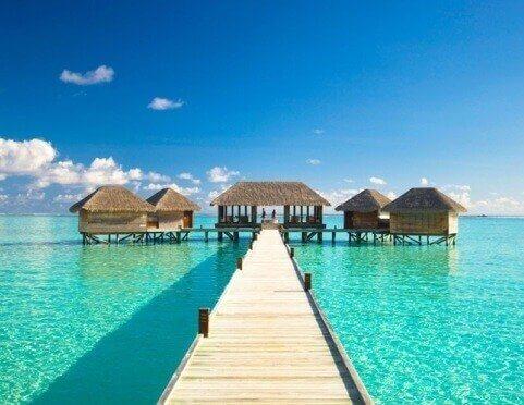 Malediwy - domy na wodzie - wakacje