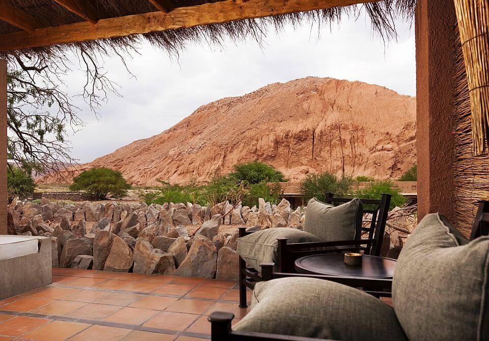 Chile, San Pedro de Atacama - Alto Atacama Desert Lodge, prywatny taras