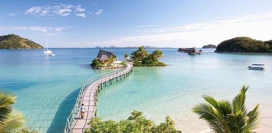 Fidżi, Malolo - Likuliku Lagoon z lotu ptaka
