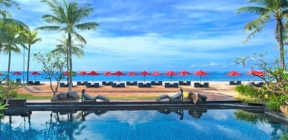 Indonezja, wyspa Bali - Hotel The St Regis Bali, widok z restauracji Kayuputi