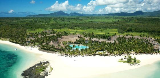 Mauritius - Lux Belle Mare Aerial widok z lotu ptaka