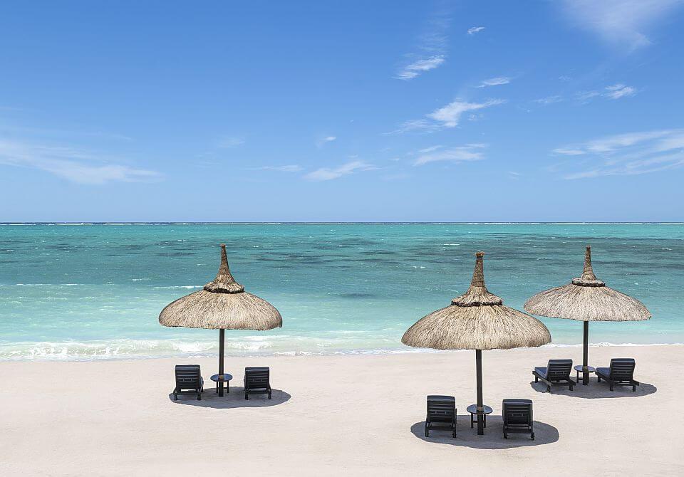 wypoczynek na plaży na mauritiusie