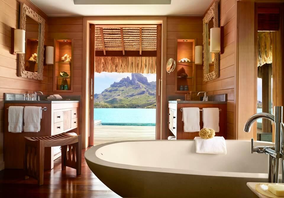 Polinezja Francuska, Bora Bora - Four Seasons Resort, domy na wodzie z basenem