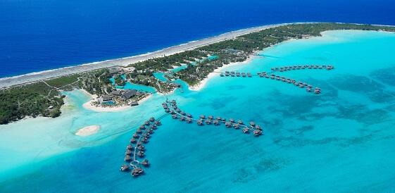 Polinezja Francuska, Bora Bora - Four Seasons z lotu ptaka