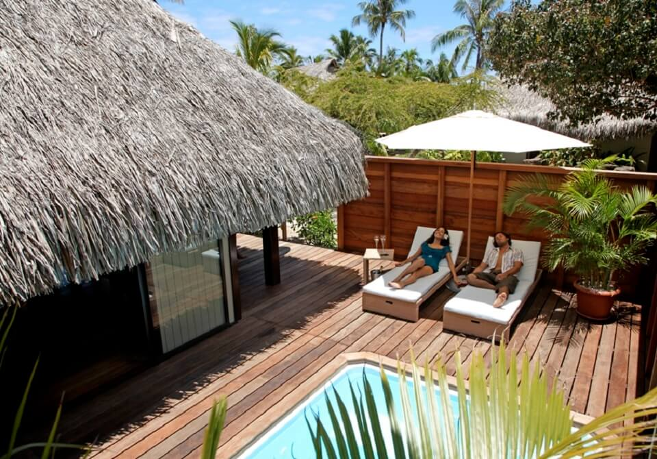 Polinezja Francuska, Moorea - Hilton Moorea Lagoon, bungalow z basenem
