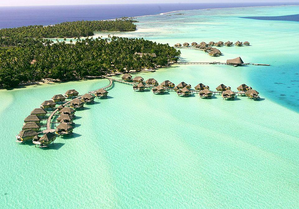 Polinezja Francuska, Tahaa - Le Taha'a wyspa widok z lotu ptaka