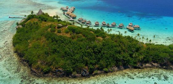 Wyspy Bora Bora - widok z lotu ptaka