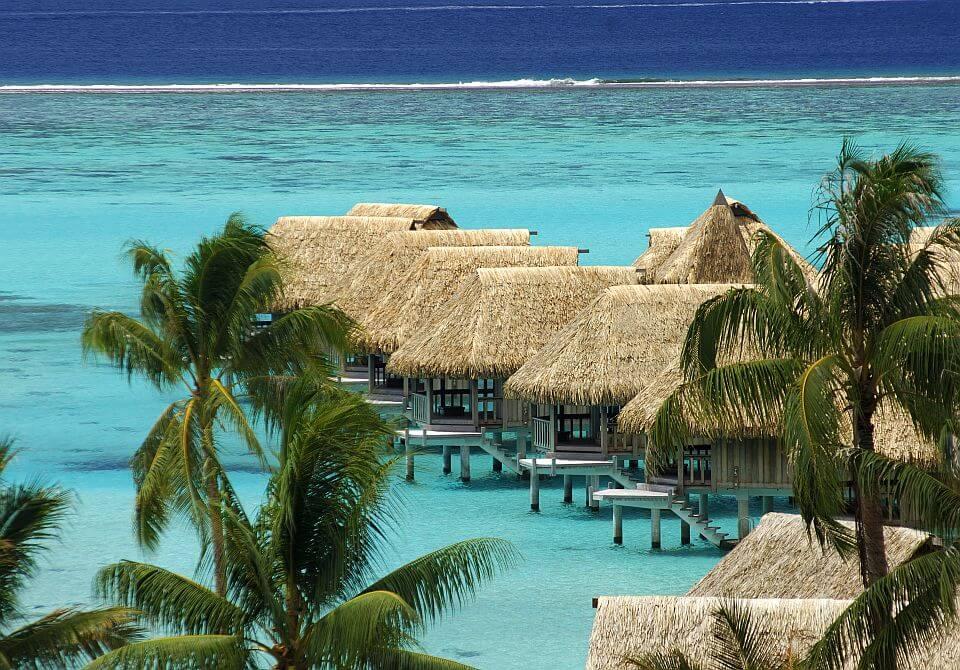 Polinezja Francuska, wyspa Moorea - Sofitel Moorea Ia Ora widok z lotu ptaka