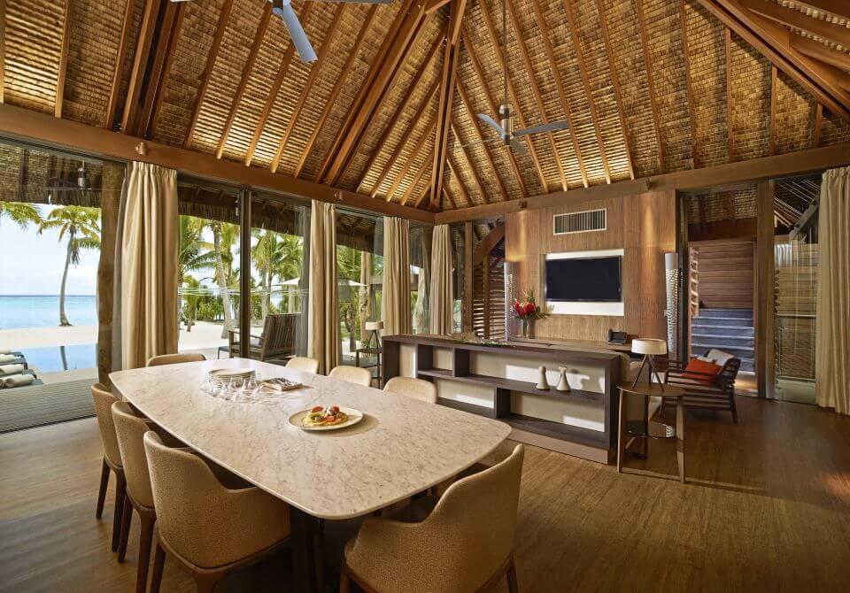Polinezja Francuska, wyspa Tetiaroa, The Brando, salon w sypialni