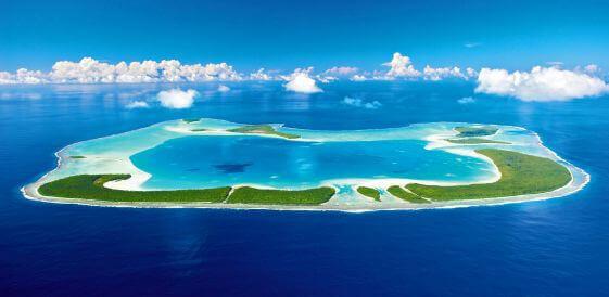 Prywatna wyspa Tetiaroa w Polinezji