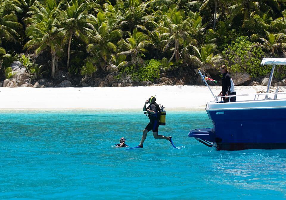 Seszele, Fregate Island Private - nurkowanie