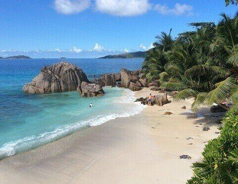Pogoda na seszelach - widok na plażę