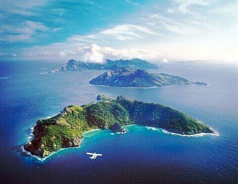 Pogoda na fidżi - widok z lotu ptaka na wyspy