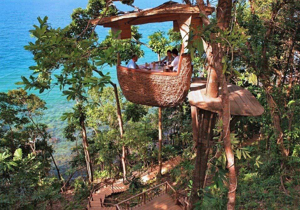 Azja, Tajlandia, Soneva Kiri dom na drzewie