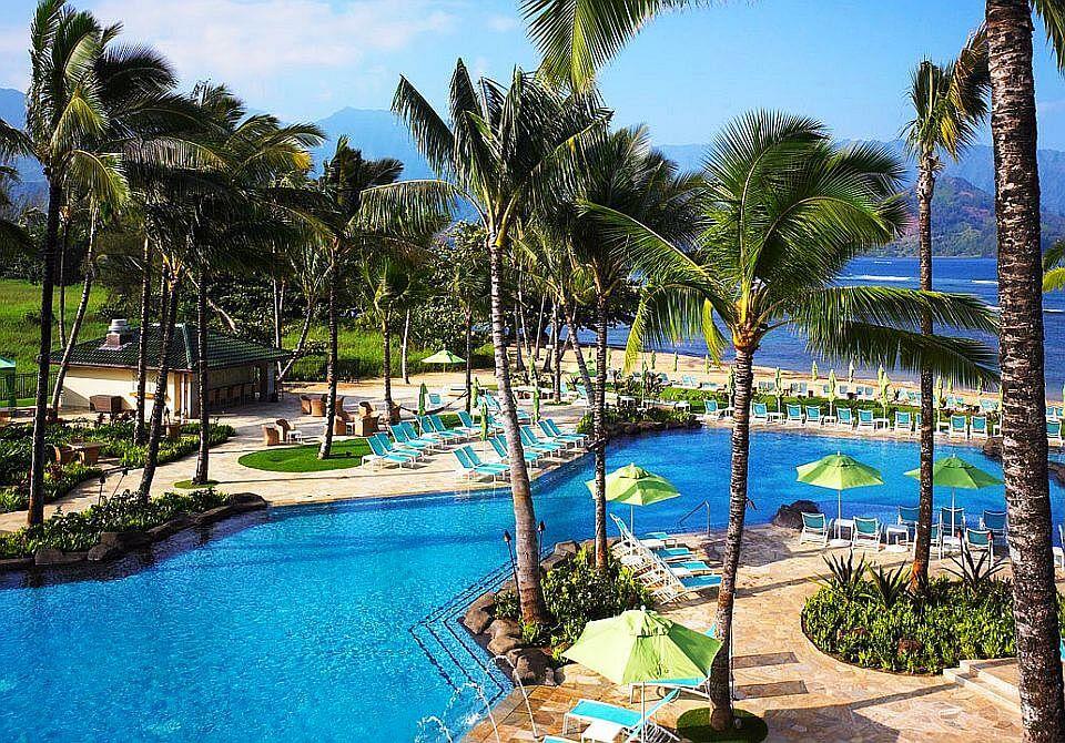 Hawaje, wyspa Kauai - The St. Regis Princeville Resort, basen