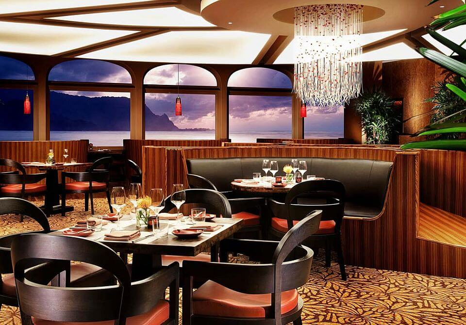 Hawaje, wyspa Kauai - The St. Regis Princeville Resort, restauracja