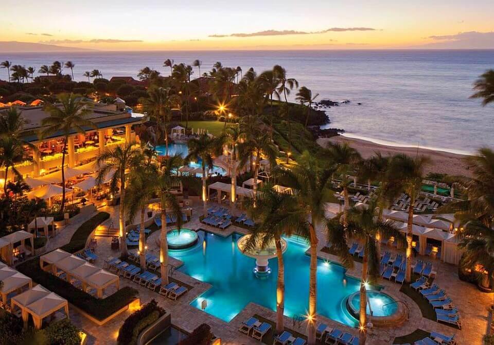Four Seasons Resort Maui - widok z góry na hotel