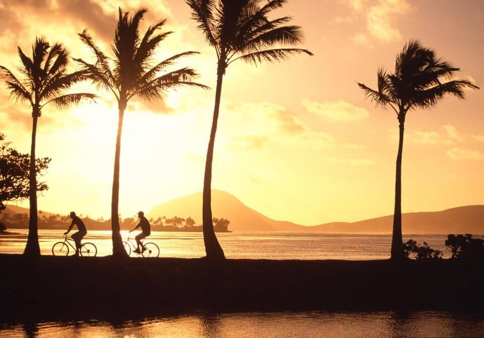 Hawaje, wyspa Oahu, Honolulu - The Kahala Hotel & Resort, wycieczki rowerowe w słońcu