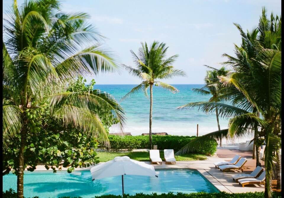 Meksyk, Hotel Esencia, basen i plaża