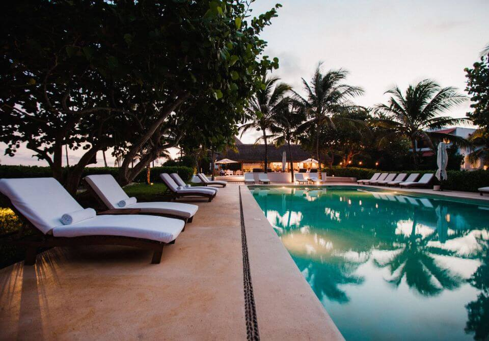 Meksyk, Hotel Esencia, basen