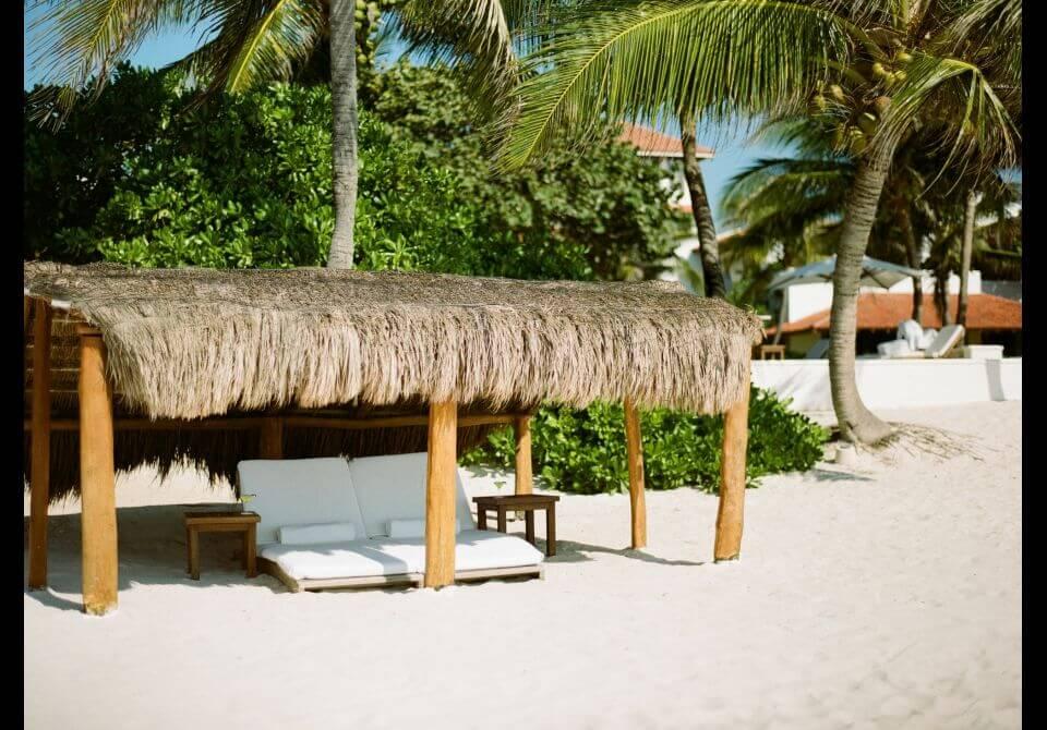 Meksyk, Hotel Esencia, plaża i leżaki