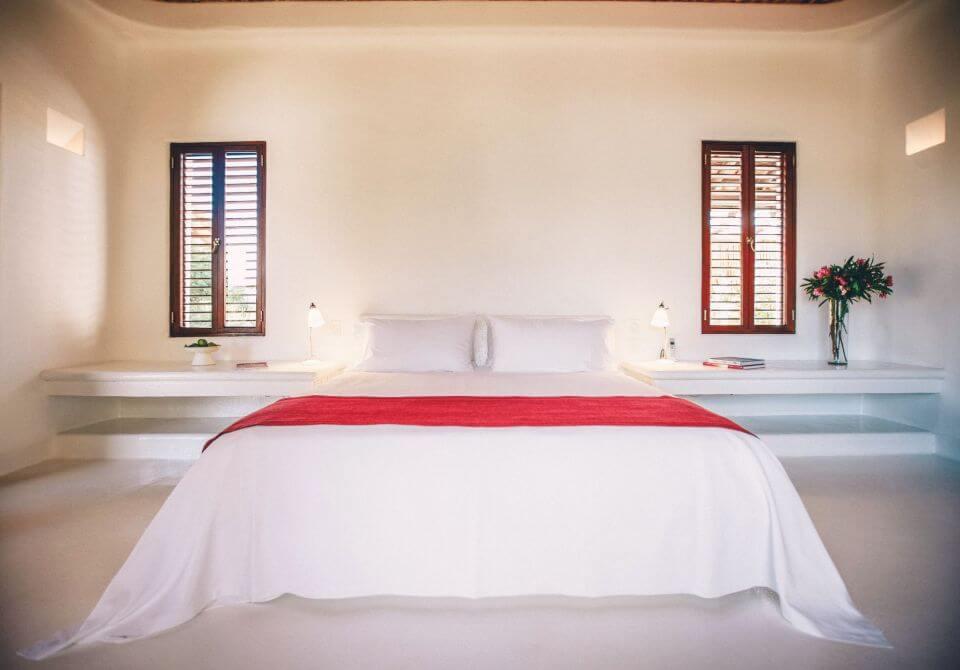 Meksyk, Hotel Esencia, sypialnia w hotelu