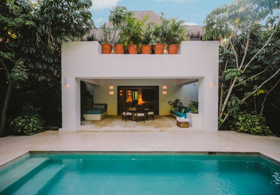 Meksyk, Hotel Esencia, willa z basenem