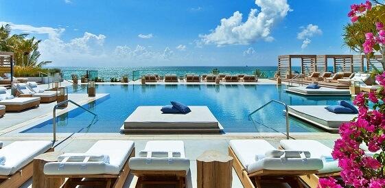 Miami, 1 Hotel South Beach, basen, miniaturka