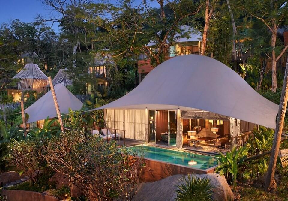 Phuket, Keemala, Tent pool villa