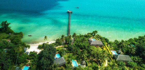 Widok na Zanzibar z lotu ptaka